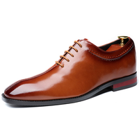 UP-0855J Wholesale Breathable Lace up PU Leather Men Wedding Shoes