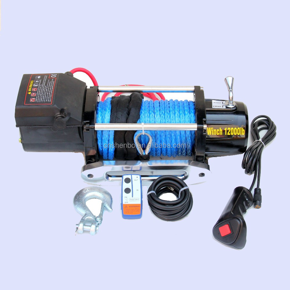 Customization Size OEM CE approved 12000lb 4X4 off-road electric winch