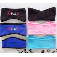 Factory veocro headband with packing cards polar fleece headband custom