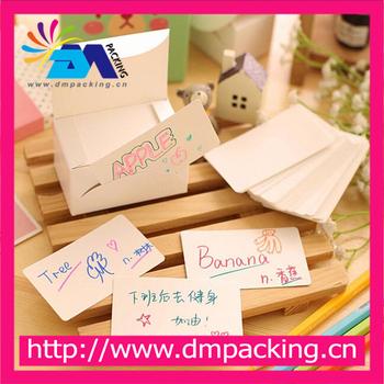 Blanc Papier Message Carton Cartes Mot Carte De Visite Postale