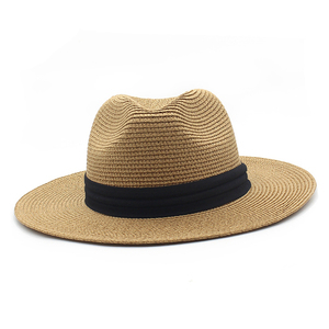 Flat Brim Straw Beach Hats for Men