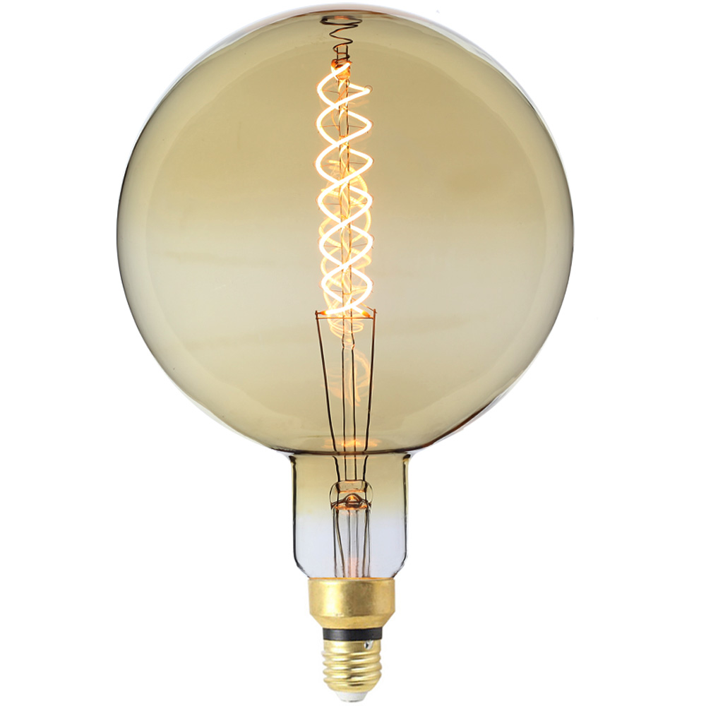 LightingDesigner Large Globe Vintage Light Bulb Edison LED Bulb G200 6W Spiral Led Filament Dimmable 220/240v <strong>E27</strong>