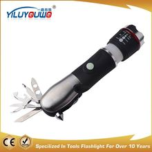 New product factory supply Multi tools LED torch camping emergency flashlight tools with Safety Hammer