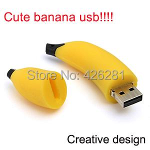 New Novelty Cute cartoon Banana fruit Usb flash drive Pen drive Usb memory stick pendrive Usb