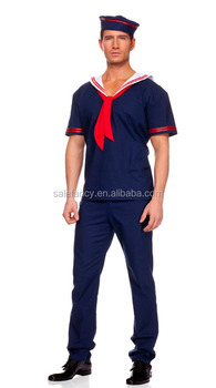 Adult Blue Sailor Navy Marine Men Costume Fancy Party Dress Halloween Costume QAMC-2549  sc 1 st  Alibaba : marine costume for men  - Germanpascual.Com