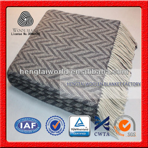 NO.1 China blanket factory Variety size, pure NZ wool, home textile china factory wool plaid blanket