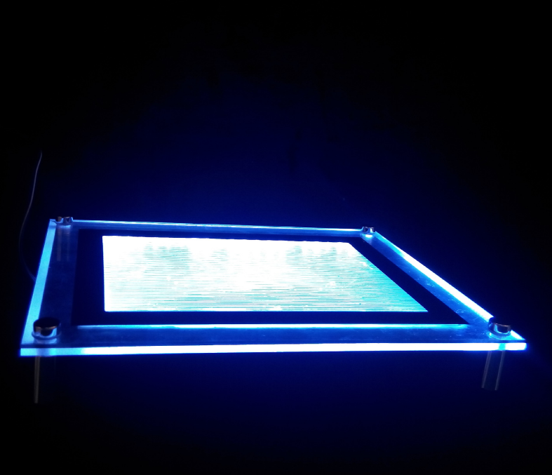 Размер A2, A3, A4 фоторамка ультра-тонкий хрустальный свет окна