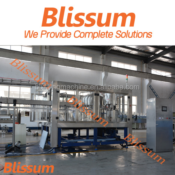 2016 BLISSUM welcome automatic water fill seal machines for PET bottle