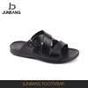 2017 Summer outdoor men black genuine leather slipper
