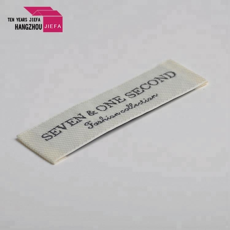 100%polyester high density brand main custom clothing woven label