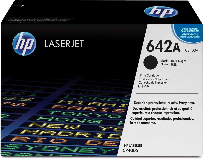HP 642A (CB400A) Black Original Toner Cartridge for HP Color LaserJet CP4005