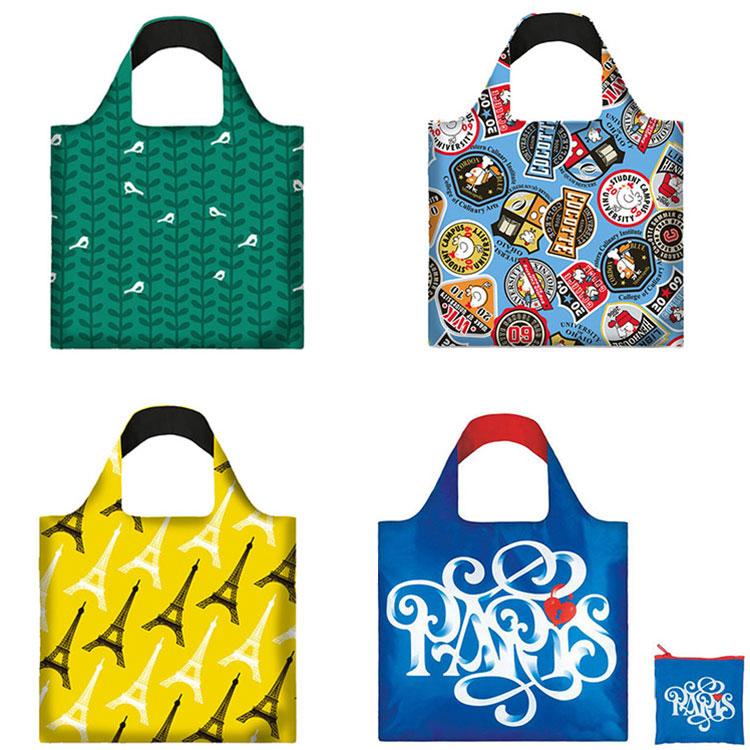 Fabriek Prijs Rpet Eco Vriendelijke Opvouwbare Aangepaste Herbruikbare Boodschappentassen