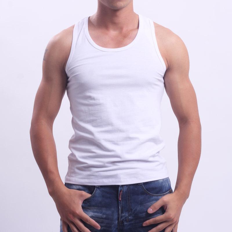 6 Mens Vests 100/% Cotton Interlock Singlets Underwear White 3XL 4XL 5XL