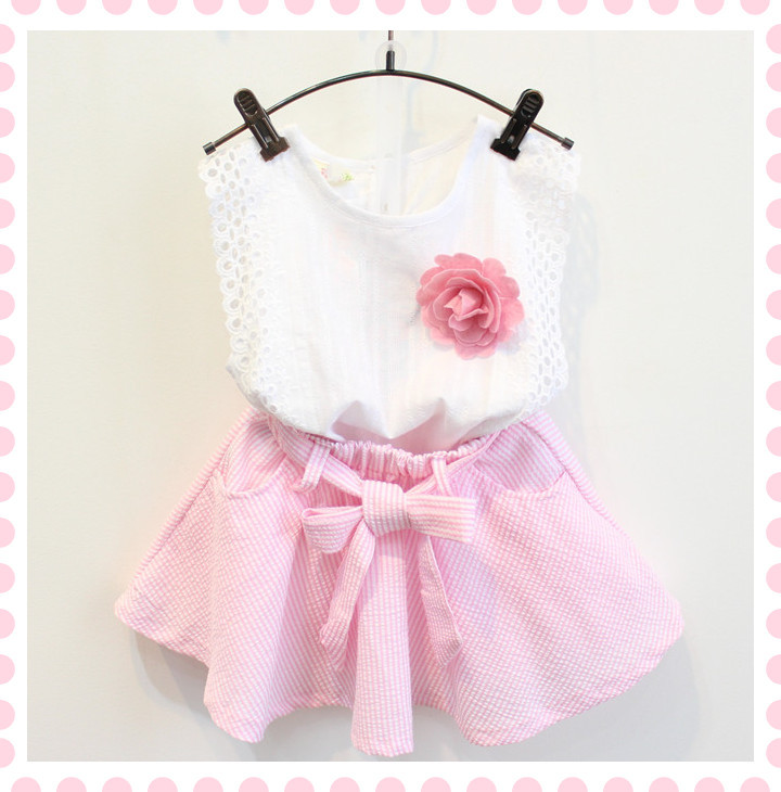 2015 band summer style 2PCS kids baby girl clothing T-shirt+skirt children clothing set mother daughter dresses clothes BC1069