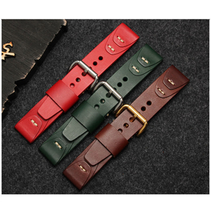 Hand Made Genuine Leather Watch Band Strap for Watch Connect Width at 18mm 20mm 22mm 24mm Fashion Leather Watchband