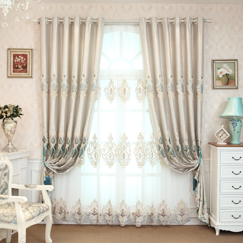 China supplier wholesale cotton embroidery curtain fabric