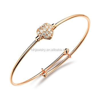 New Gold Bracelet Designs Love Heart Shaped 18k Italian Designer Las Product On