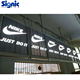 bluetooth football stadium led banners led outdoor sign monitor transparent led curtain display