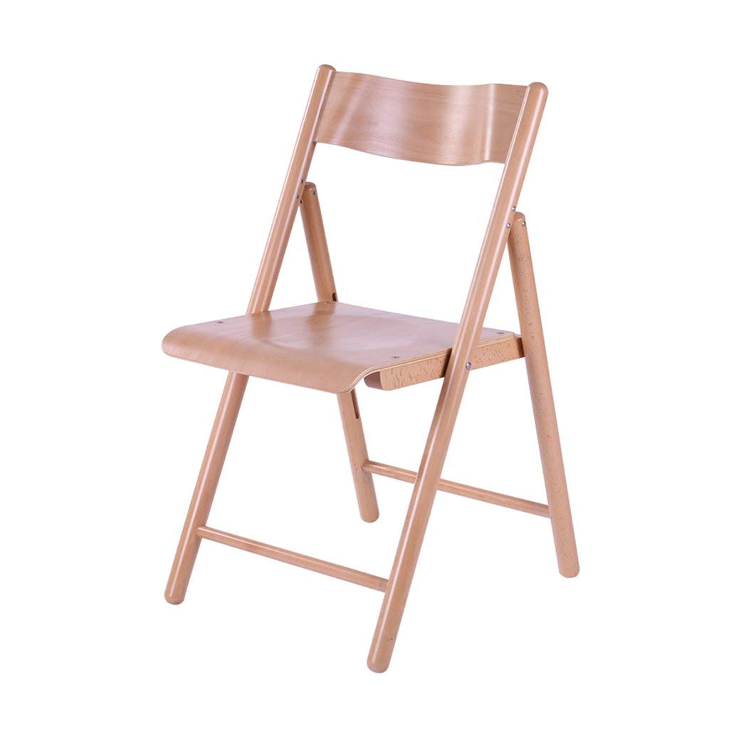 Gai Hua Home Folding Chairs Folding Chair Computer Chair Home Leisure Chair Backrest Chair Desk Chair Office Conference Chair (Color : Brown)