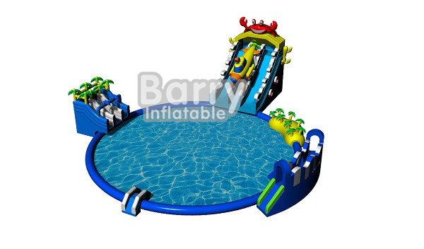 Good aqua park equipment , backyard inflatable water park for kids