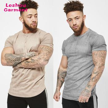 Custom Suede Slim Fit Mens T Shirt New