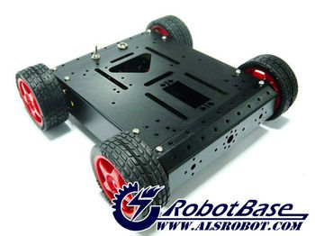 4WD Aluminum Mobile Robot Platform Black For arduino