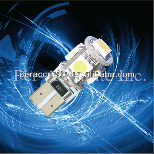 Best Xenon White Side light Bulb 501 T10 W5W canbus car led car bulb factory