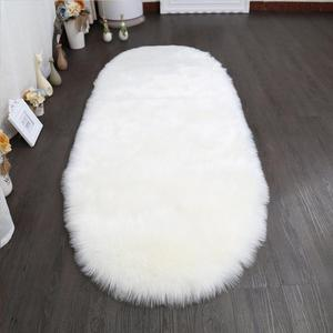 whosale plush faux fur rugs long wool artificial chair rug sheepskin faux fur rugs for