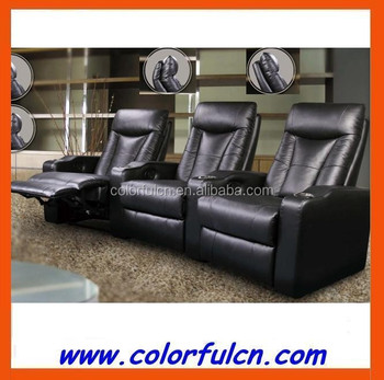 Pure Leather Recliner Sofa Used