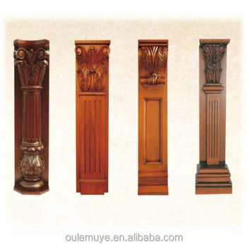 Wood pillar designs home design for Where to buy columns for house