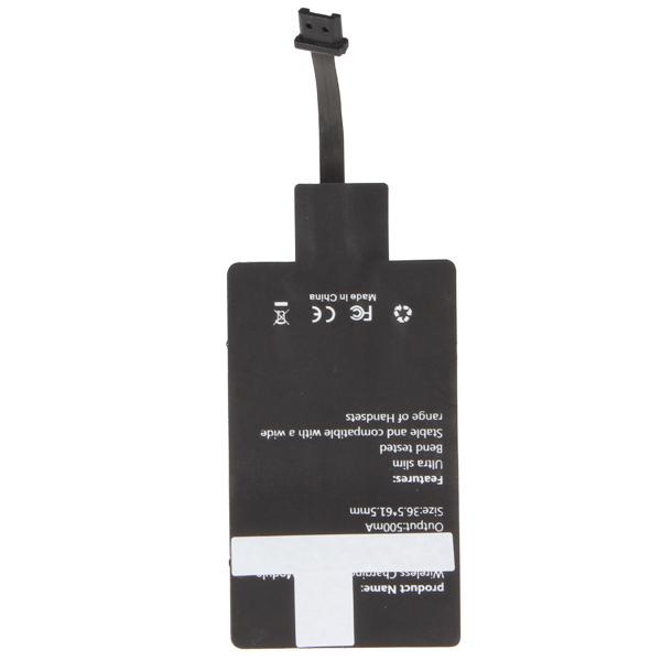 Аварийного сверхтонкий совместимо Qi беспроводной зарядки приемника адаптер модуль с USB Interface универсальная для смартфонов