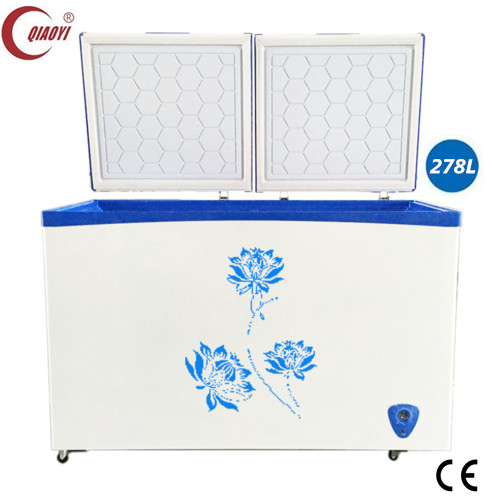 chest freezer ice cream display freezer frozen meat/ fish deep freezer 278L