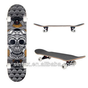 "PRO 31"" x 7.5"" Skateboard 7 PLY Canadian Maple Bearings ABEC-9 Aluminium Trucks"