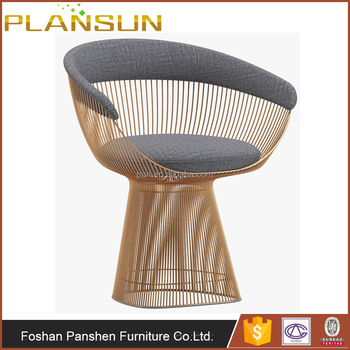 b5eca563f5d8 Replica modern livingroom chairs wire stainless steel Warren Platner Dining  Throne armChair