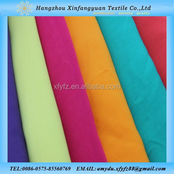 100 viscose in woven rayon fabric /100% rayon solid dyed