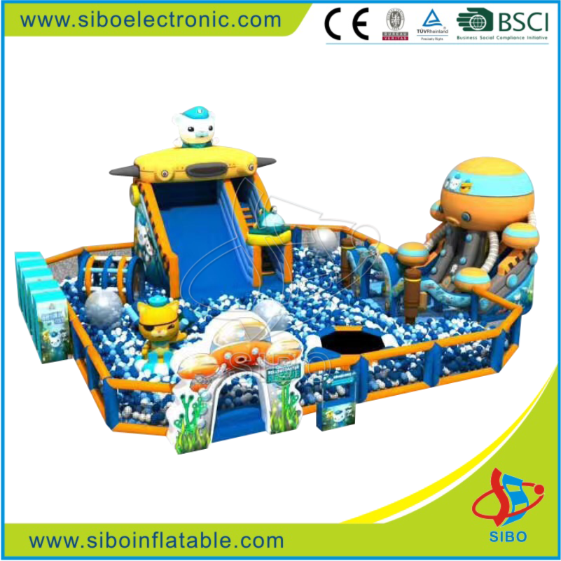 GMIF Giant Hot product Indoor inflatable park with slide and ball toys