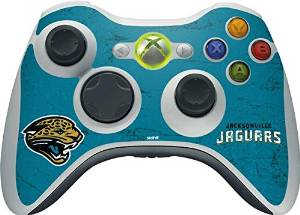 NFL Jacksonville Jaguars Xbox 360 Wireless Controller Skin - Jacksonville Jaguars Distressed Vinyl Decal Skin For Your Xbox 360 Wireless Controller
