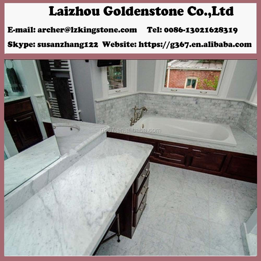 Turkish Carrara White Marble Veneer Countertops
