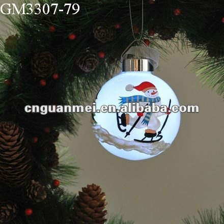2018 blown LED ball decoration glass christmas gifts
