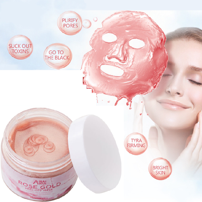 OEM/ODM Rose Pétale Cristal Collagène Or Poudre Masque Bio Collagène Or Rose Masque Facial Anti-Âge En Gros