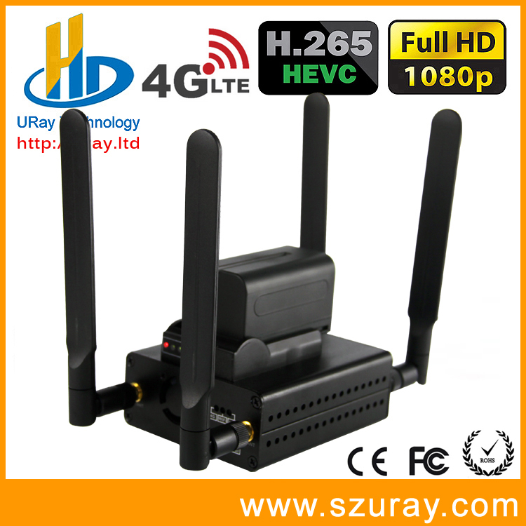 URay 3G 4G LTE HEVC H.265 /H.264 H 265 /H264 HDMI IPTV Encoder TV Streamer IP Video Encoder Support WIFI With Battery