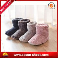 Free sample promotional fur lined boots shoes indoor fur boots snow new york boots