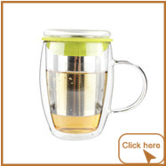 Personalized Deluxe Pyrex Glass Teapot With Infuser