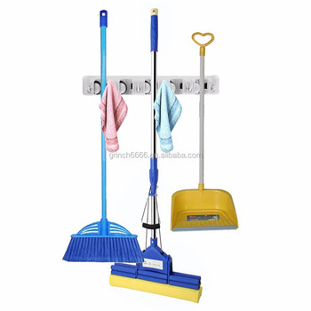 Mop And Broom Holder Wall Mount Garden