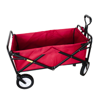 4 Wheels Mobile rolling storage organizer mover utility outdoor folding carts four wheel folding cart