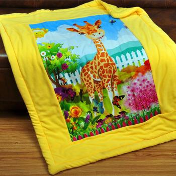 Baby Blanket Cartoon Animal Embroidered Kids Coral Fleece