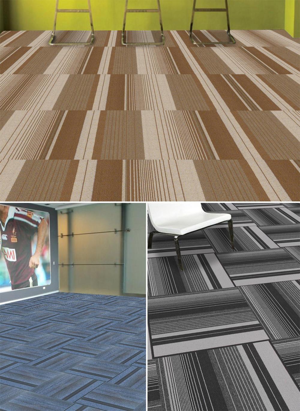 Stripe Commercial Pvc Backing Carpet Squares Buy Carpet