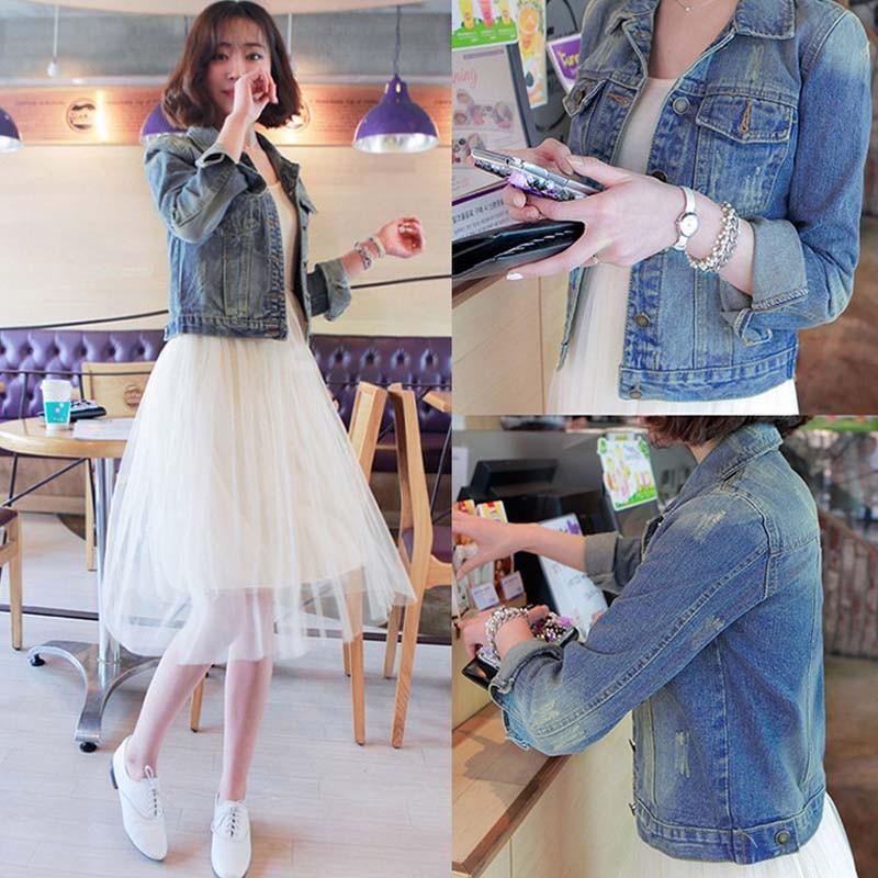 34bc9028845e WA9036 hot sale 2015 denim jacket women short jean denim coat ladies tops