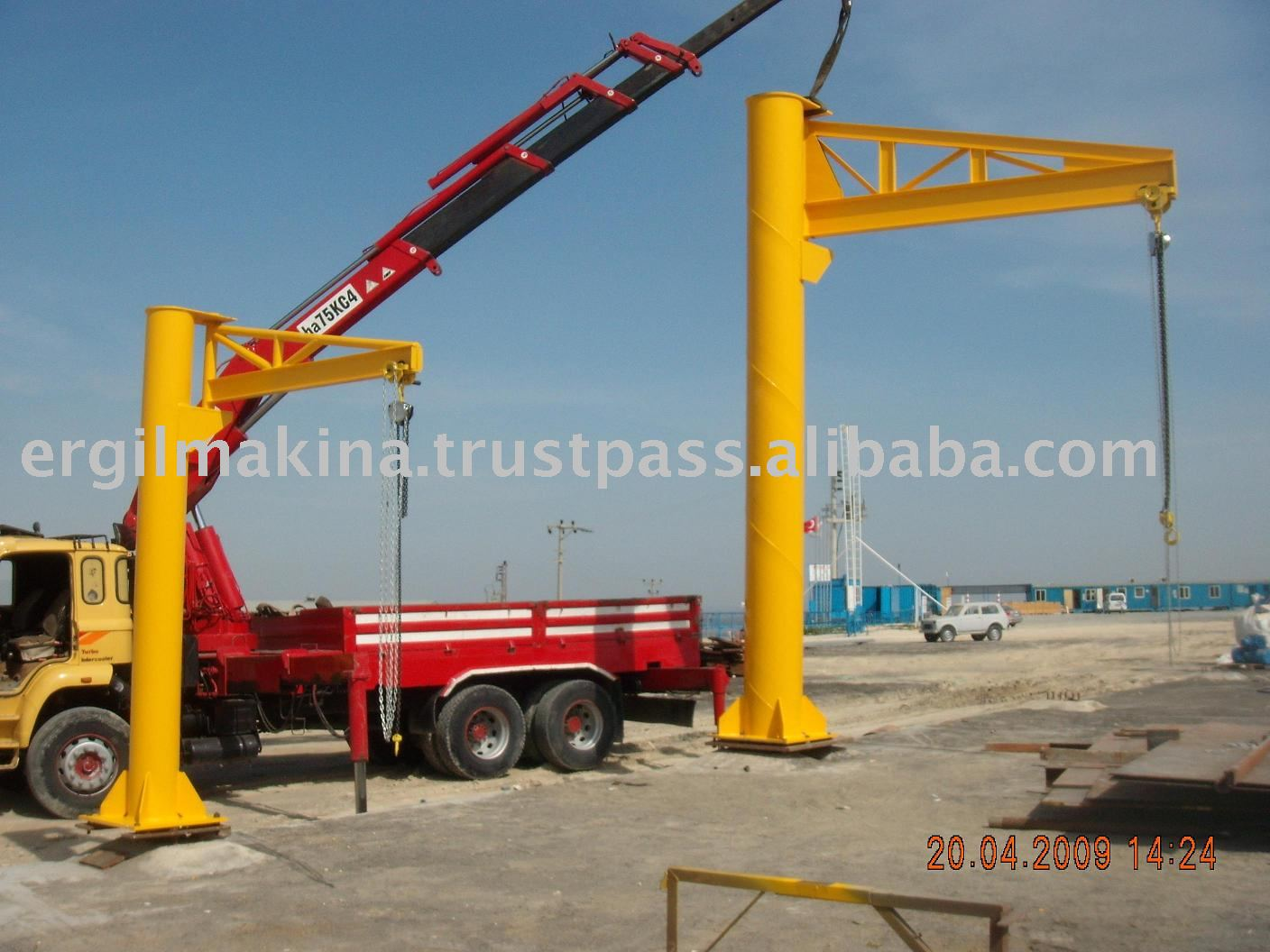Pipeline Pig Handling System (pig Trolley And Jib Crane)
