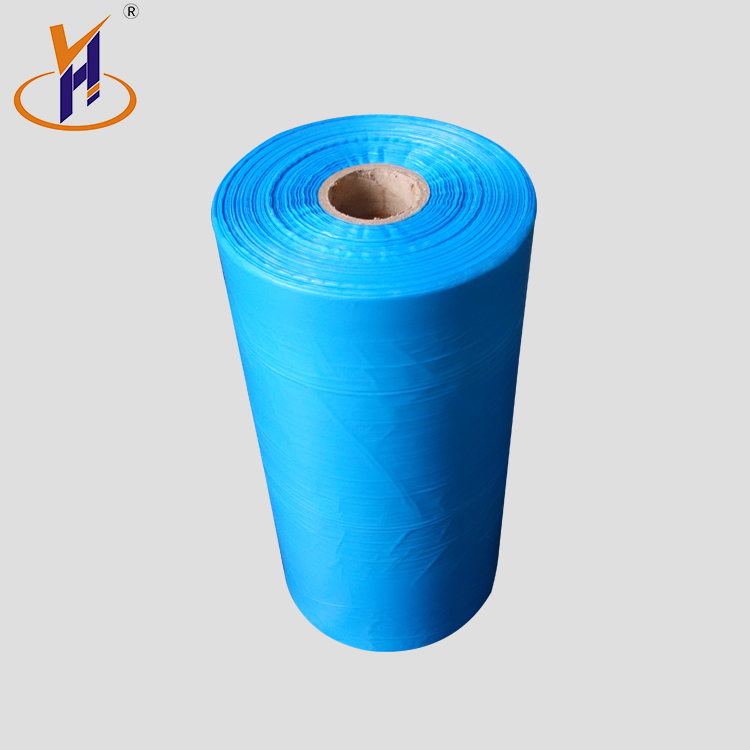 China factory blue hdpe film plastic roll on rolls